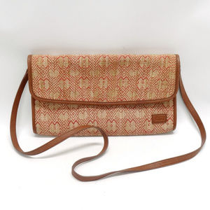 Levi's Tan/Orange Linen Clutch & Shoulder Purse